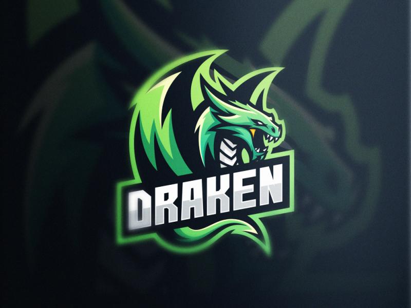 Logotipos de Equipos de eSports y gamers - Diseño de logotipo de Dragon eSport Team