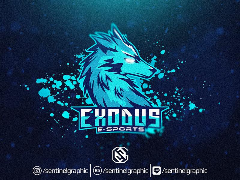 Diseño del logotipo del equipo Exodus eSport