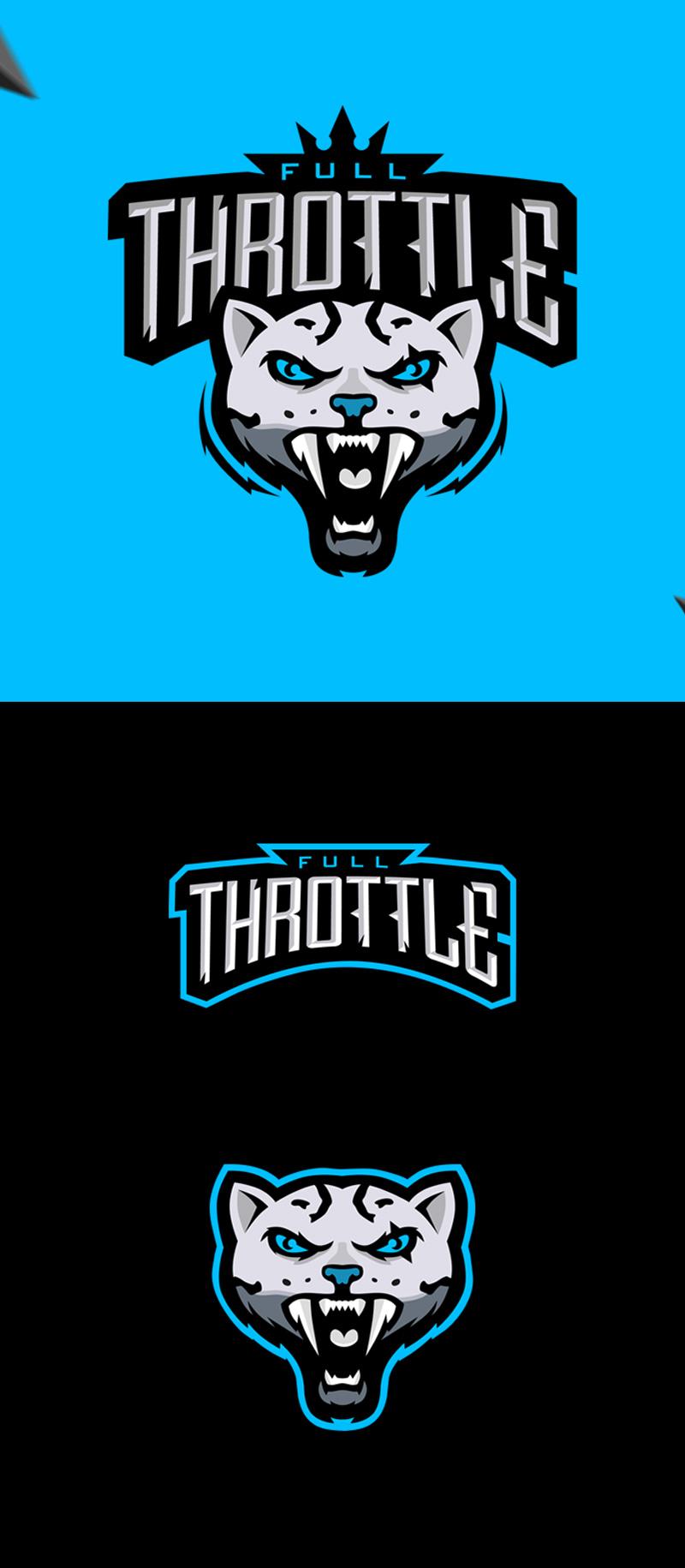 Logotipos de Equipos de eSports y gamers - Logotipo de deportes electrónicos - Full Throttle