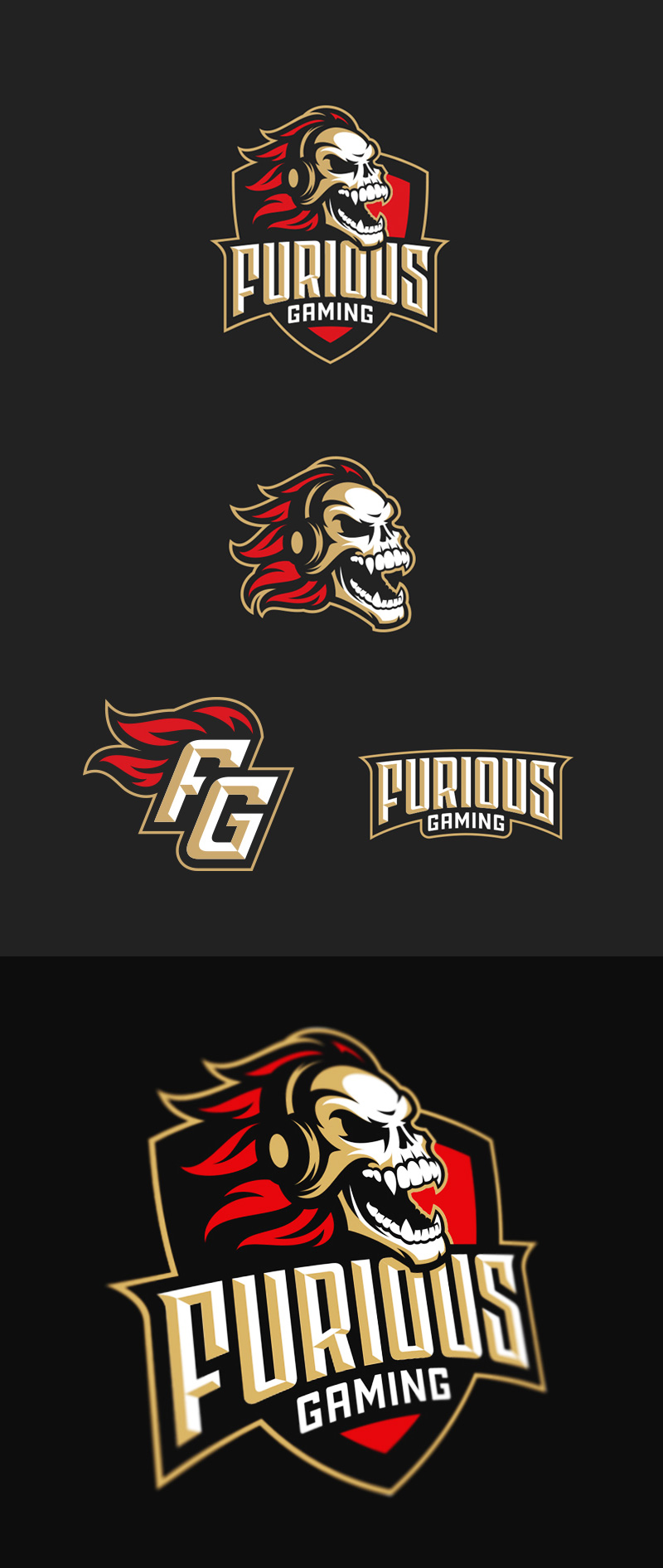Furious Gaming eSport Team Logo Design