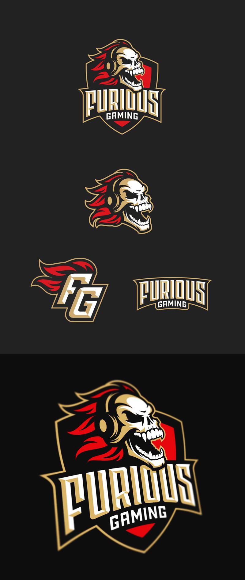 Logotipos de Equipos de eSports y gamers - Diseño de logotipo de Furious Gaming eSport Team