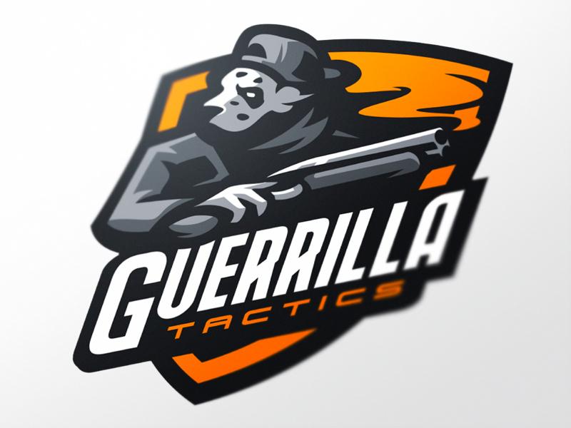 Logotipos de Equipos de eSports y gamers - Diseño de Logo de Guerrilla eSport Team