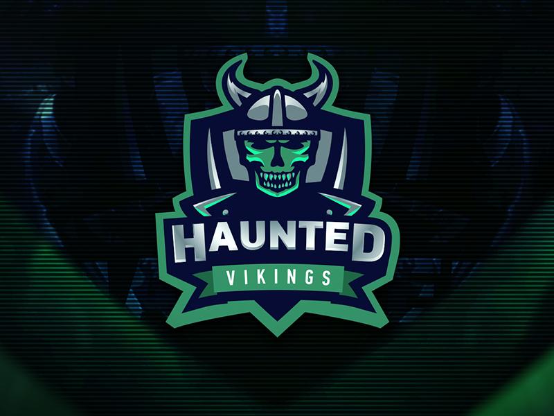 Diseño de logotipo de Haunted Vikings eSport Team