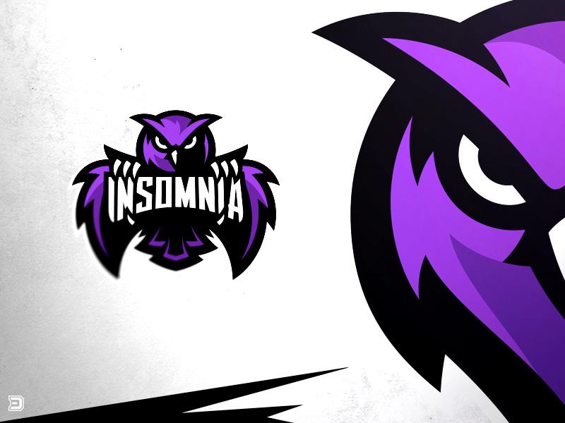 Logotipos de Equipos de eSports y gamers - Insomnia Esports Logotipo de búho