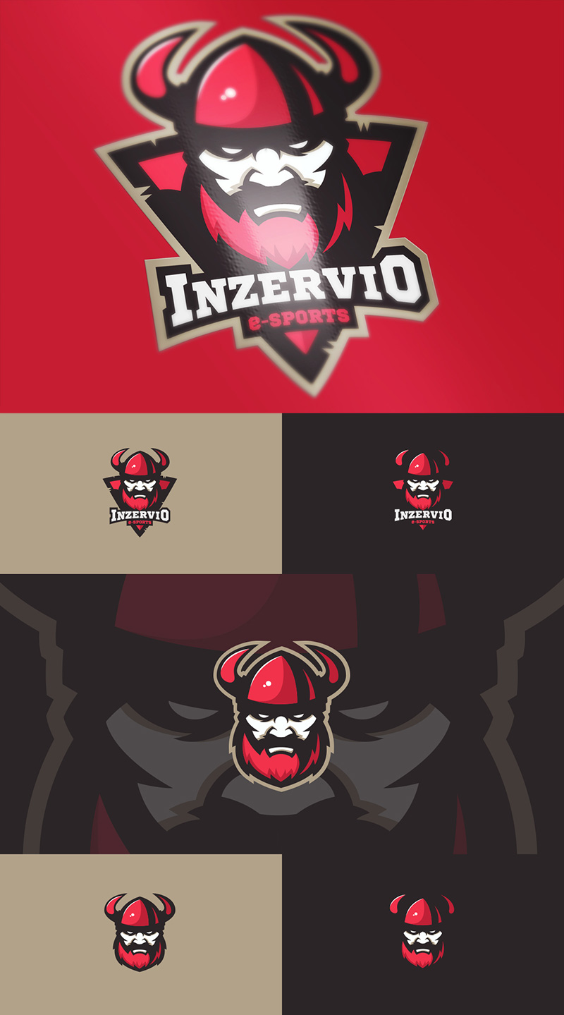 Diseño de logotipo del equipo Inzervio eSport