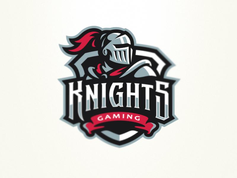 Logotipos de Equipos de eSports y gamers - Diseño de logotipo de Knights eSport Team