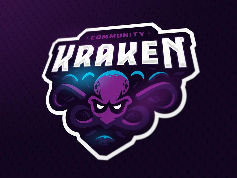 Logotipos de Equipos de eSports y gamers - Diseño de logotipo del equipo Kraken eSport