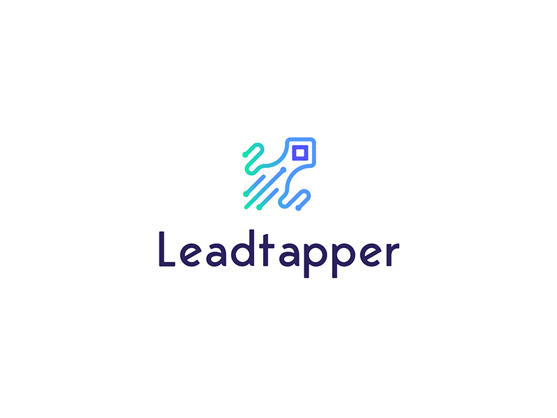 Leadtapper Technology Internet Logo by NEWFLIX