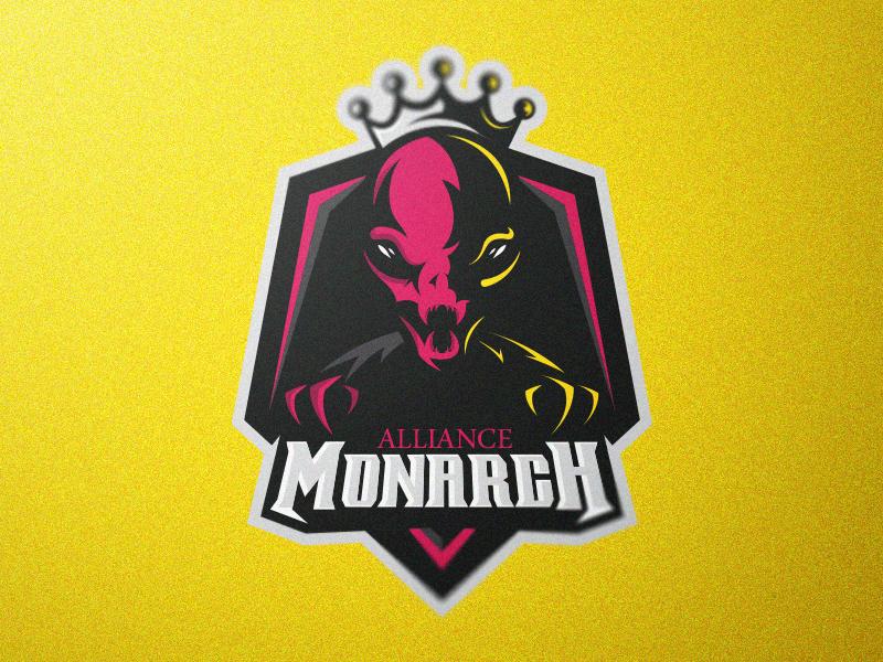 Logotipos de Equipos de eSports y gamers - Diseño de logotipo del equipo Monarch eSport