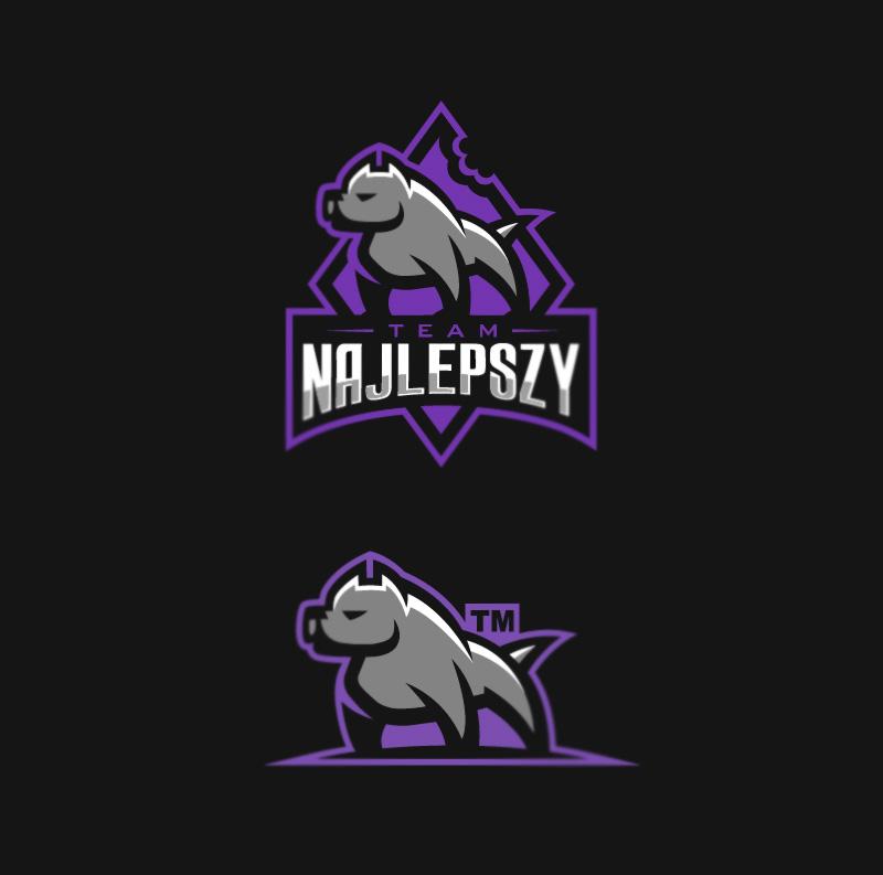 Logotipos de Equipos de eSports y gamers - Diseño de logotipo del equipo Najlepszy eSport