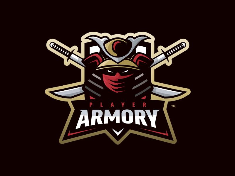 Logotipos de Equipos de eSports y gamers - Player Armory - Logotipo de la mascota