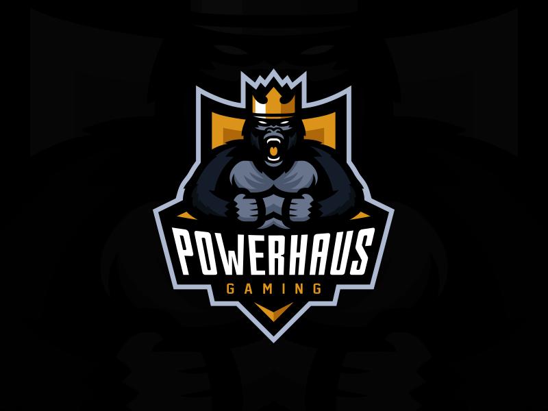 Logotipos de Equipos de eSports y gamers - Diseño del logotipo del equipo Powerhaus Gaming eSport