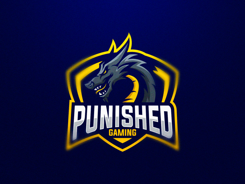Punished Gaming eSport Team Logo Design