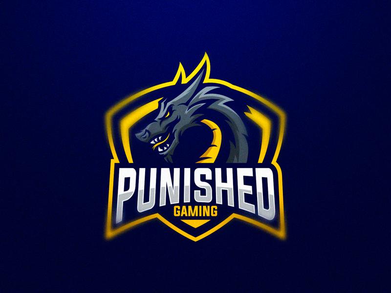 Logotipos de Equipos de eSports y gamers - Diseño de logotipo de Punished Gaming eSport Team