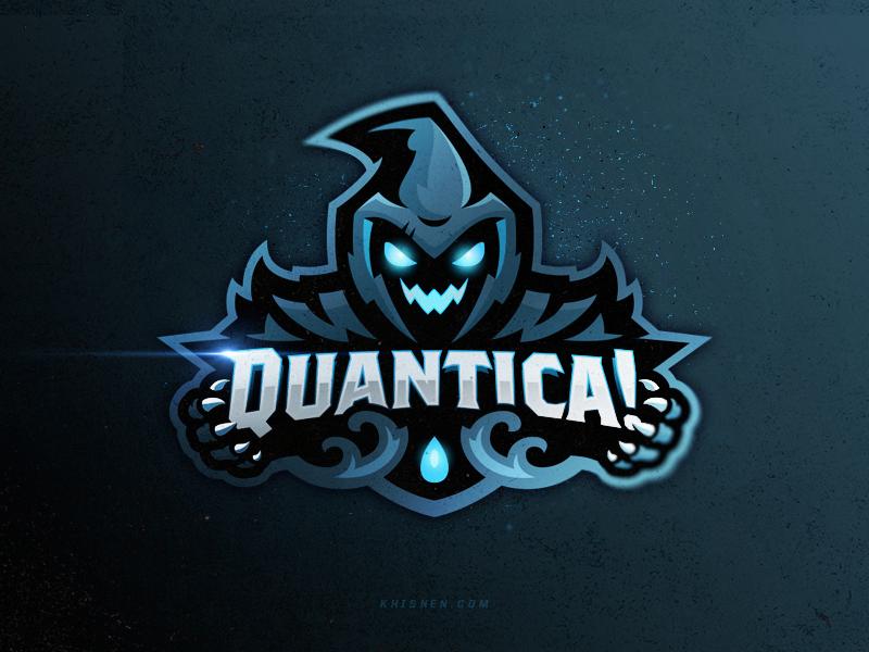 Logotipos de Equipos de eSports y gamers - Diseño de logotipo del equipo Quantica eSport