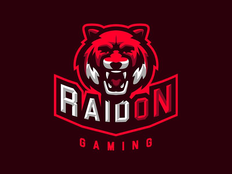 Logotipos de Equipos de eSports y gamers - Diseño de logotipo de RaidOn Gaming eSport Team