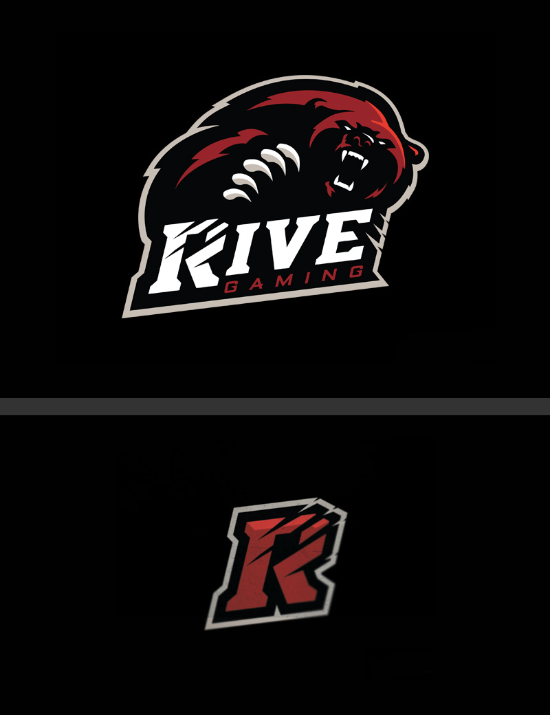 Rive Gaming eSport Team Logo Design