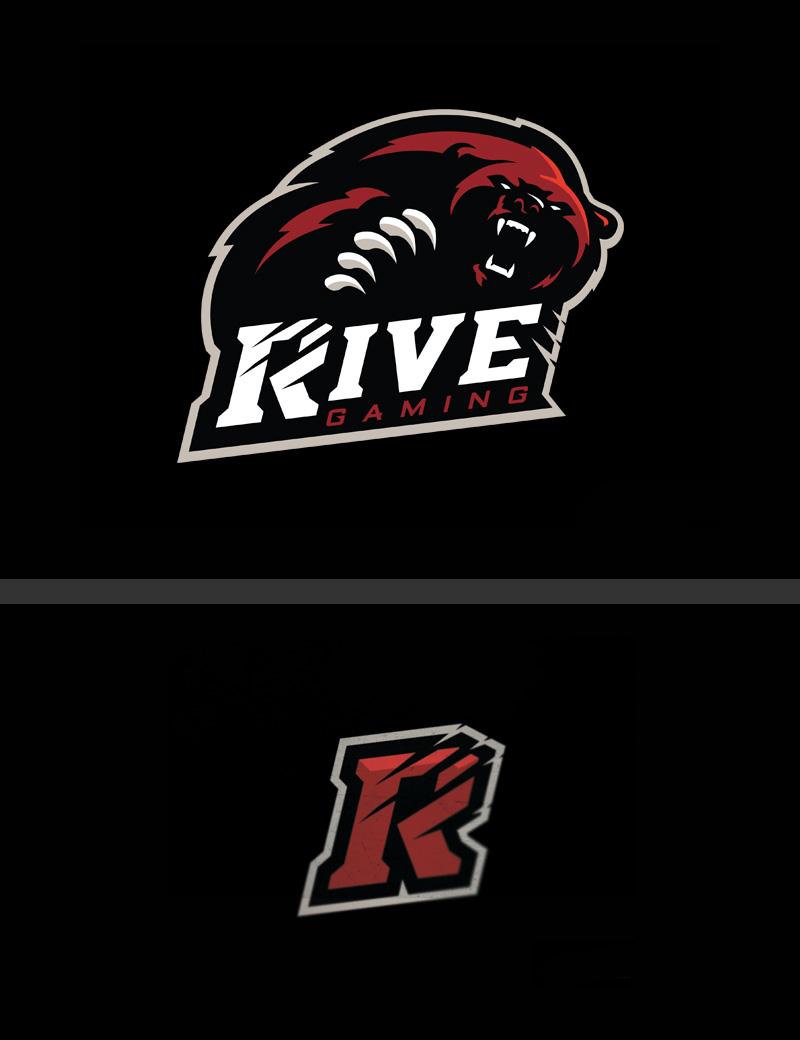 Logotipos de Equipos de eSports y gamers - Diseño de logotipo de Rive Gaming eSport Team