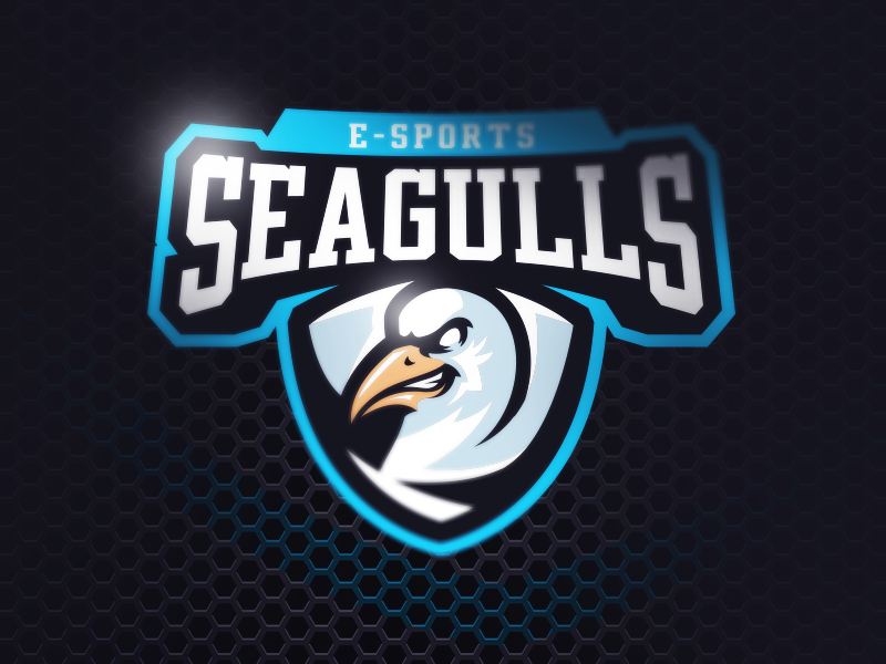 Logotipos de Equipos de eSports y gamers - Diseño de logotipo de Seagulls eSport Team