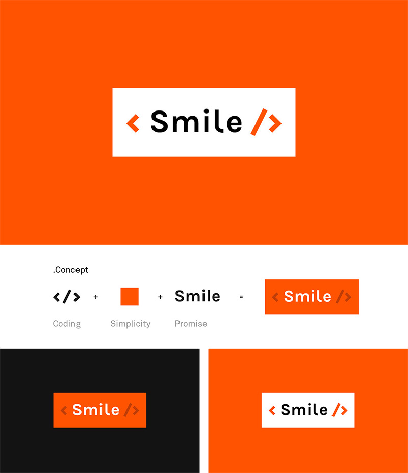 Smile Technology Internet - Brand design by Graphéine