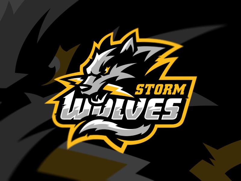Diseño de logotipo de Storm Wolves eSport Team