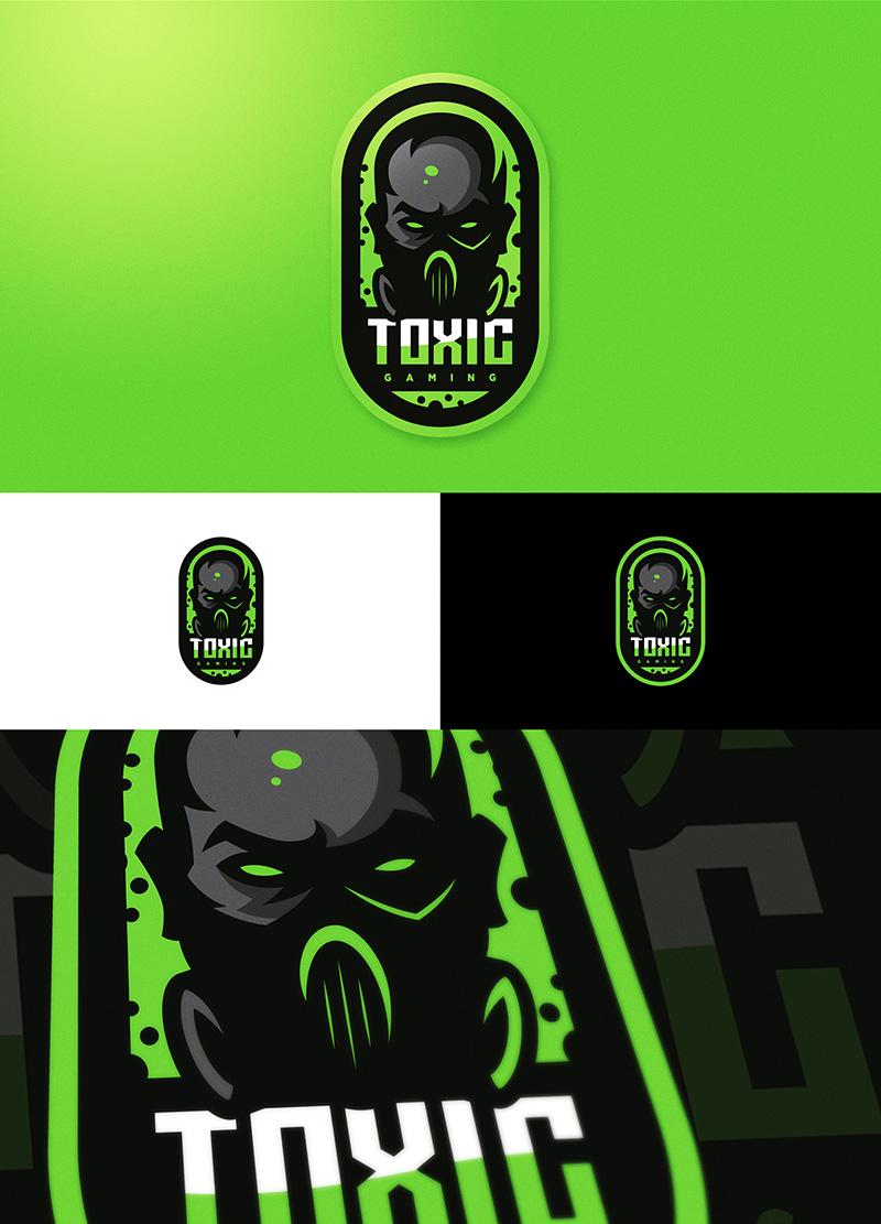 Diseño de logotipo del equipo de eSport de TOXIC GAMING