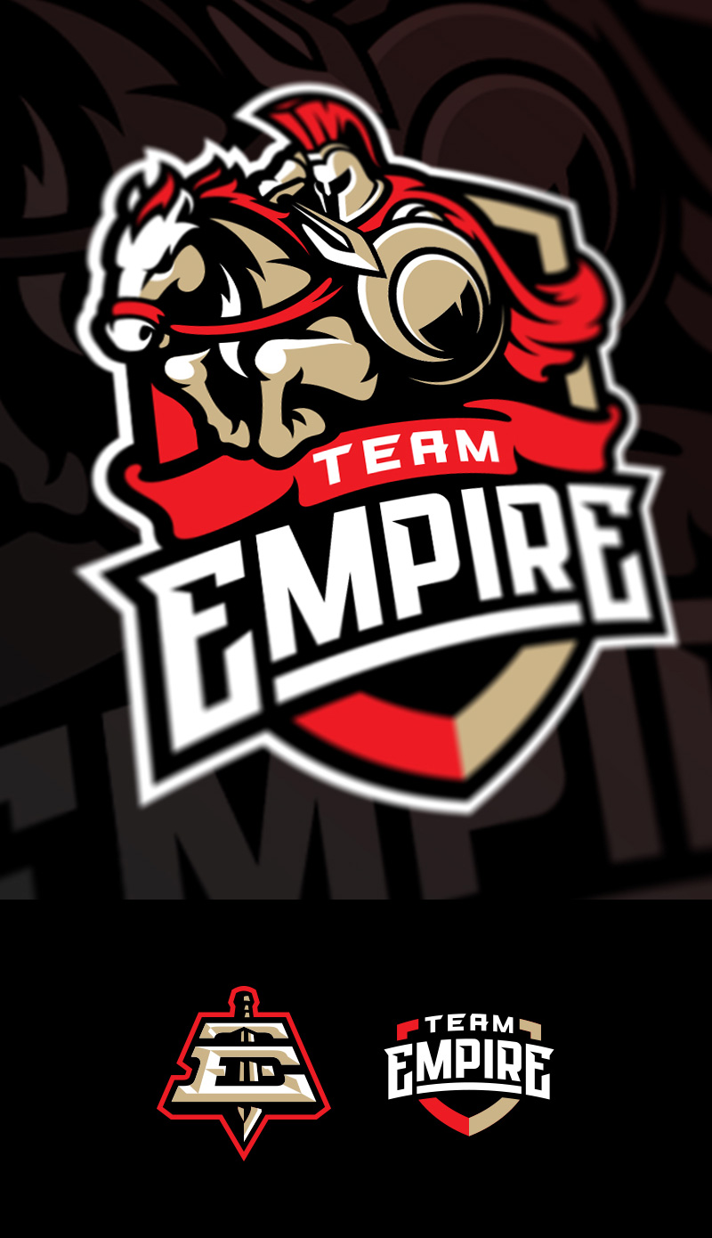 Team Empire eSport Gaming Logo Design