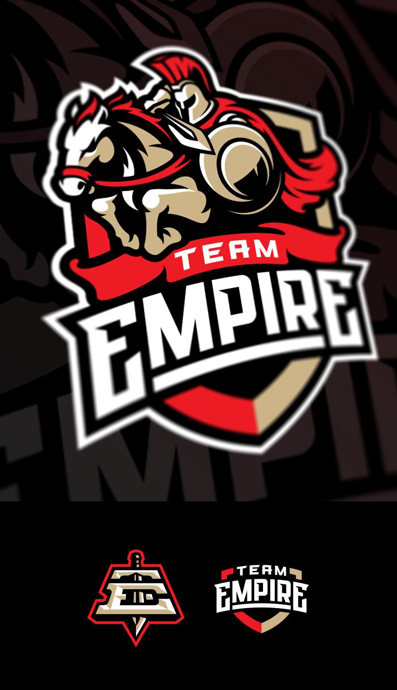 Logotipos de Equipos de eSports y gamers - Diseño de logotipo de Team Empire eSport Gaming