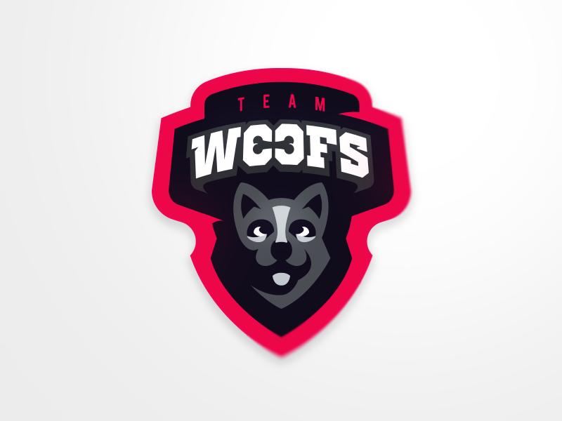 Team Woofs eSport Team Diseño de logotipo