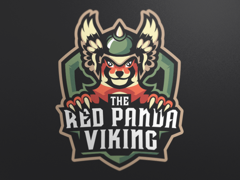 El logotipo de Red Panda Viking eSport Logo Design