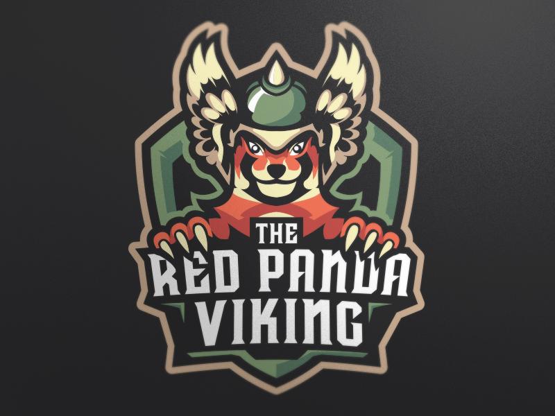 Logotipos de Equipos de eSports y gamers - El diseño del logotipo del equipo Red Panda Viking eSport