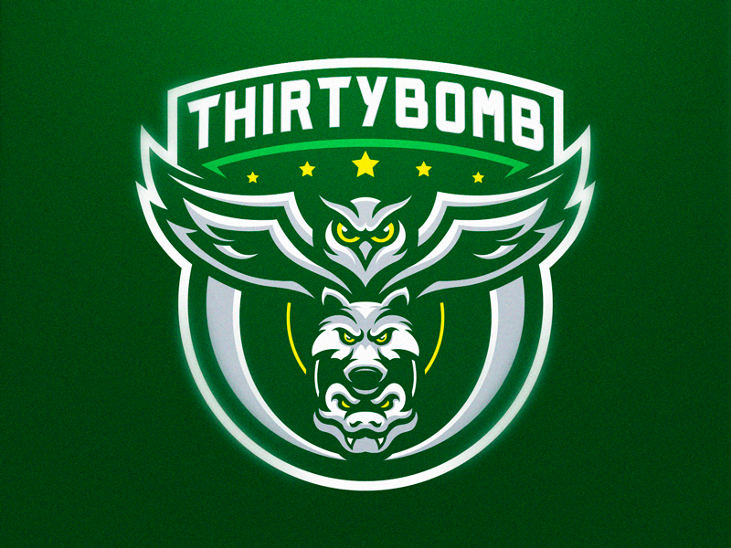 Thirtybomb eSport Team Logo Design