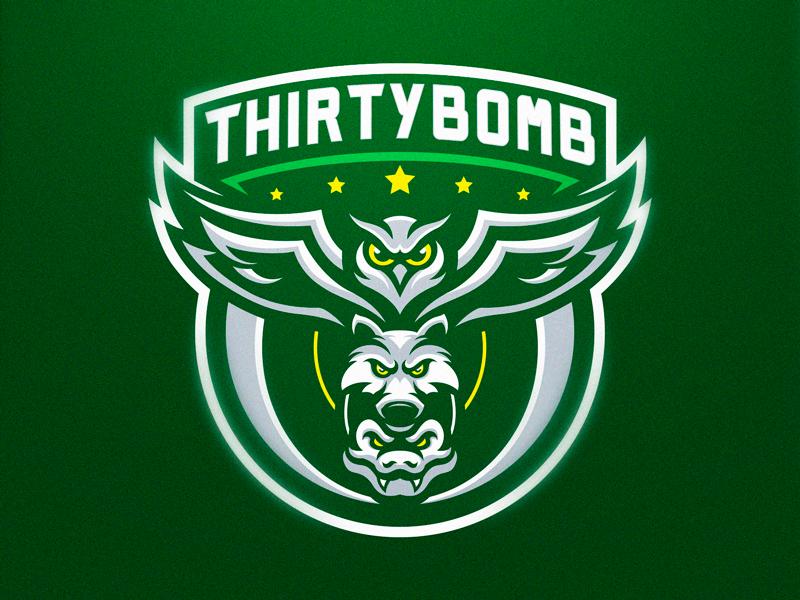 Logotipos de Equipos de eSports y gamers - Diseño de logotipo de Thirtybomb eSport Team