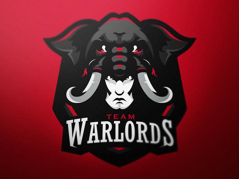 Logotipos de Equipos de eSports y gamers - Diseño de logotipo de Warlords eSport Team