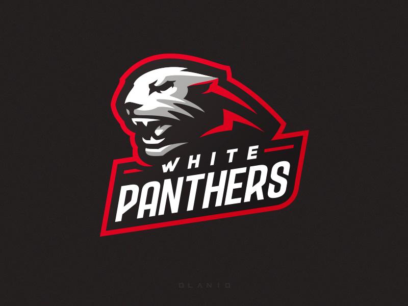 Logotipos de Equipos de eSports y gamers - Diseño de logotipo de White Panthers eSport Team