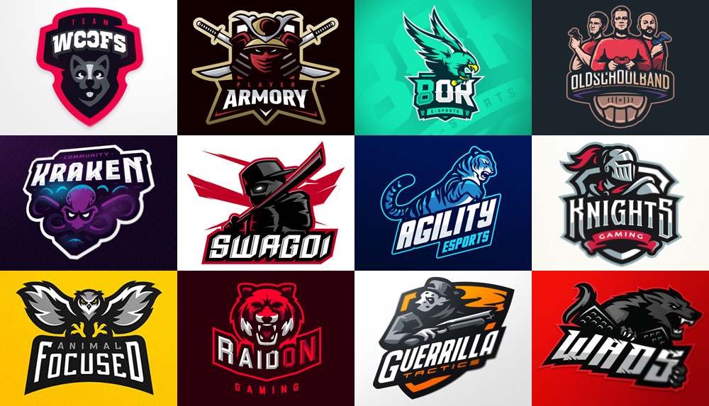 100 esports team and gaming mascot logos for inspiration in 2018
