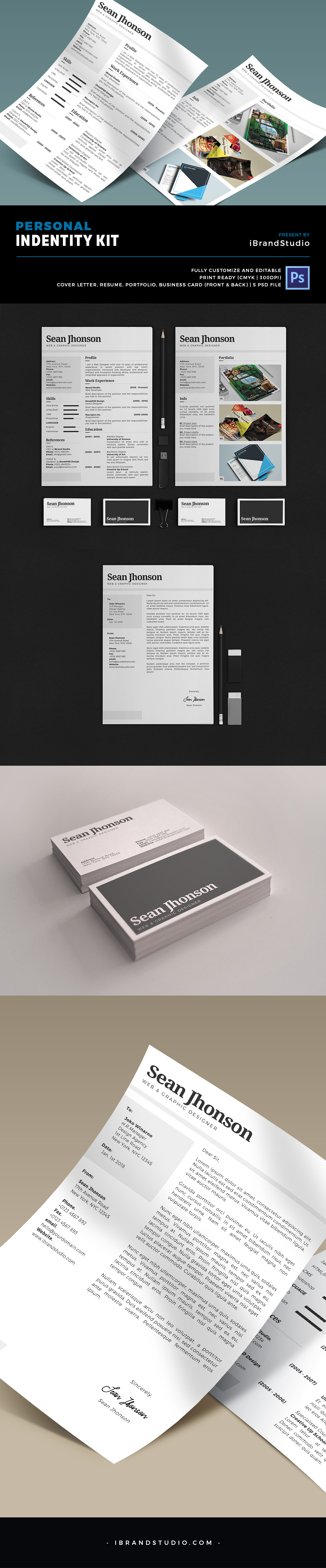 Free Personal Identity Kit PSD Template