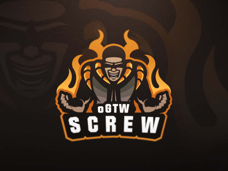 oGTW SCREW eSport Team Logo Design