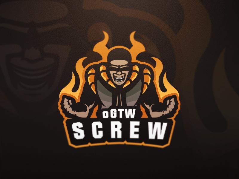 Logotipos de Equipos de eSports y gamers - oGTW SCREW eSport Team Diseño de logotipo