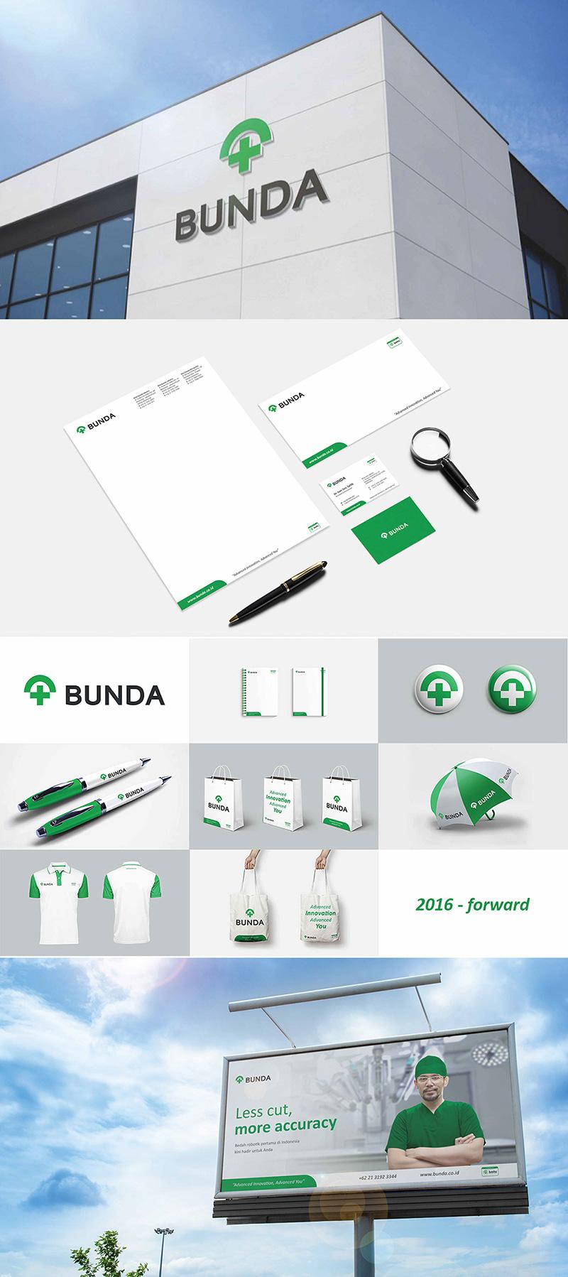 Proyecto de cambio de marca de Bunda Hospital por Dreambox Branding Consultant