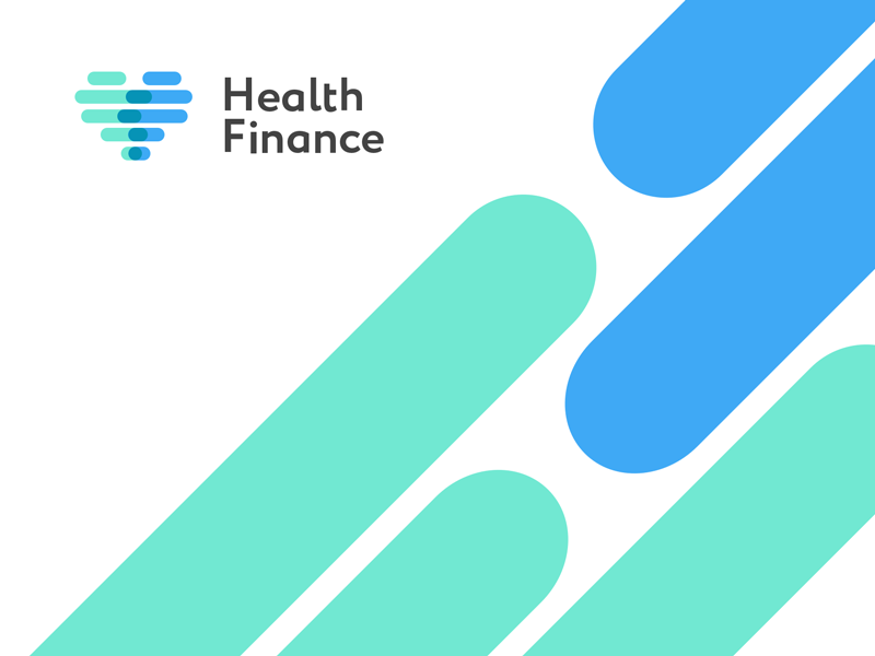 Health.Finance logo por la agencia Proxima