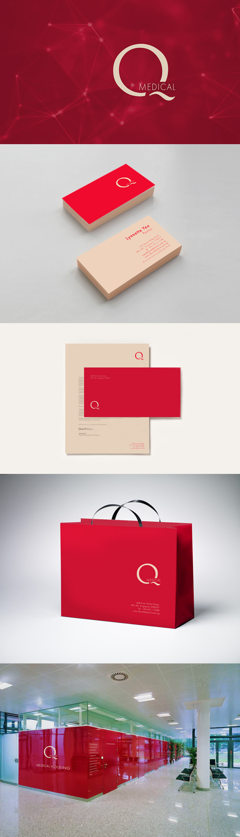 Medical clinic identity by Inna Vinchenko