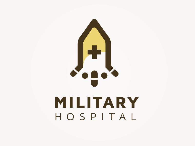 Military Hospital Concept logo by Vishnu Prasad