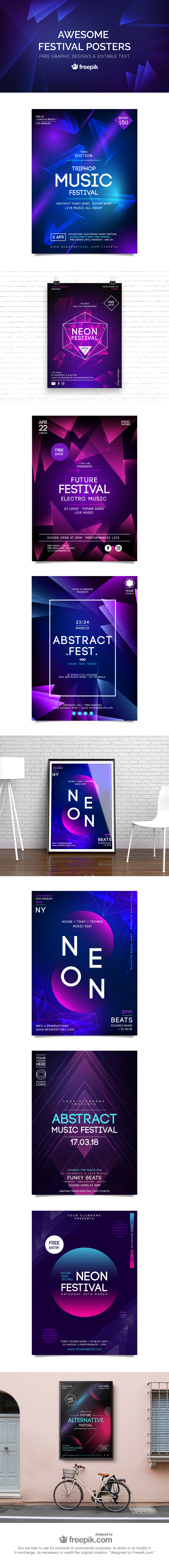 Free Festival Poster Templates