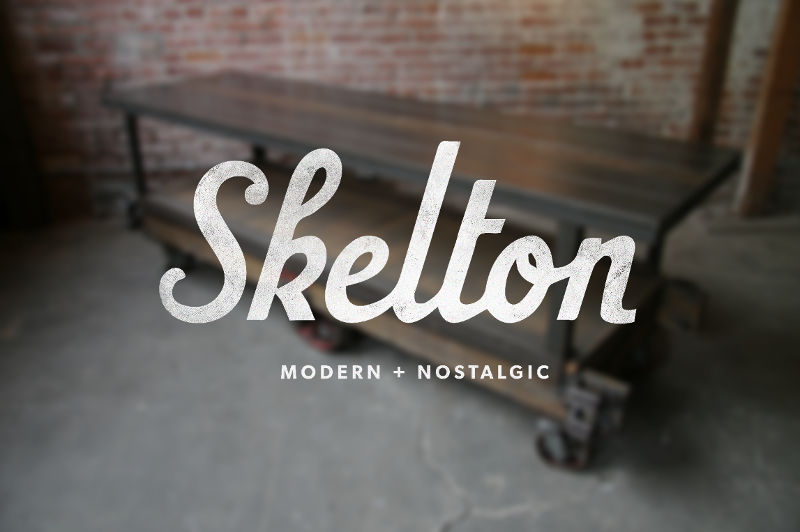 Furniture Logo - Skelton Logotype by Bill S Kenney