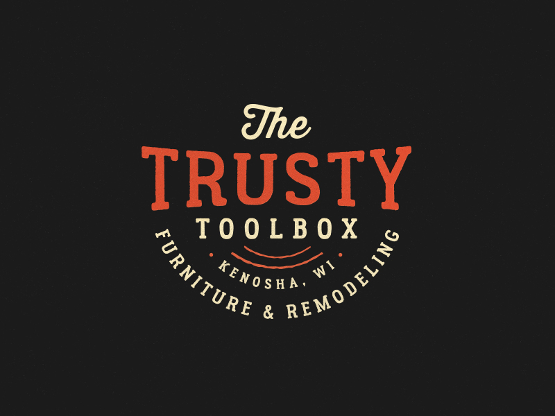 Furniture Logo - The Trusty Toolbox by Jeff Buchanan