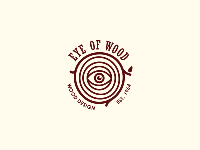 Furniture Logo - Eye Of Wood by last spark