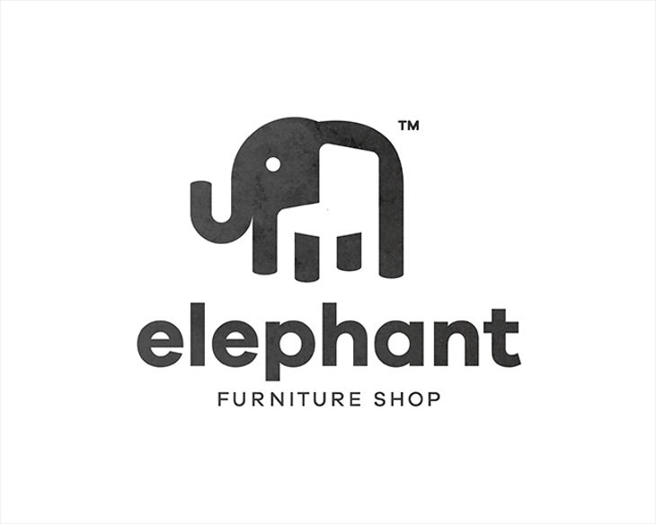 Furniture Logo - Elephant Furniture Shop by Piotr Gorczyca