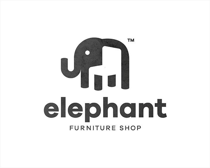 Furniture Logo - Elephant Furniture Shop by Piotr Gorczyca