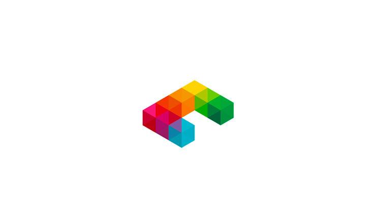 Furniture Logo - C is for Cubes, logo design symbol by Alex Tass